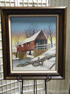 Framed Bridge Painting