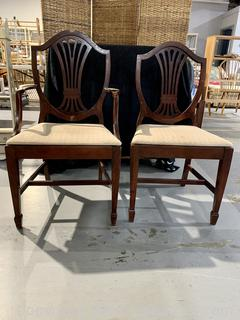 2 Shield Back Dining Chairs