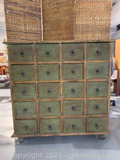 20 Drawer Apothecary Accent Chest