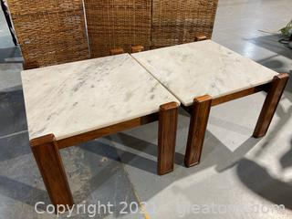 Mid Century Modern Pair of Coffee Tables Lot of 2