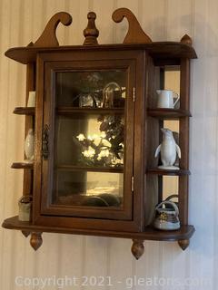 Attractive Wooden Miniatures' Shelf