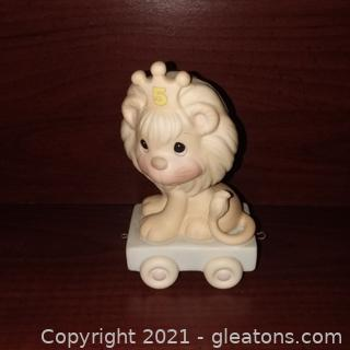 Precious Moments Birthday Train Ages 5 Lion Figure