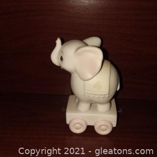 Precious Moments Age 4 Birthday Train Figurine