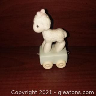 Precious Moments Birthday Train Age 1 Lamb Figurine