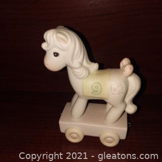 Precious Moments Age 9 Pony Figurine