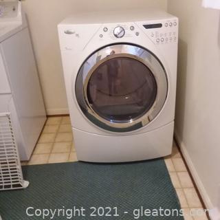 Whirpool White Duet Steam Dryer
