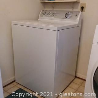 GE White Top Load Washing Machine with Agitator