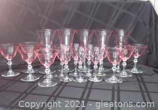 20 Pieces of Crystal Stemware