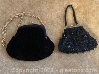 Lot of 2 Elegant Clutch Handbags