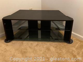 High Glass T.V. Stand Unit