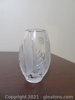 "Small (3"" H) Heavy Marquis By Waterford Crystal Vase"