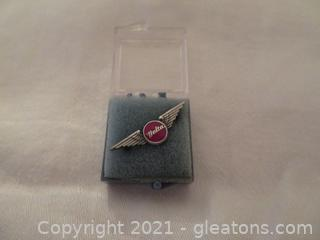 Delta Air Lines One Year Service Pin (Pre-1978) New In Box