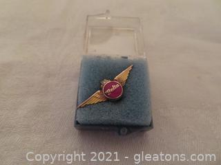 New In Box Delta Air Lines Twenty Year Service Pin (Pre 1978) (A)