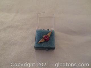 New In Box Delta Air Lines Twenty Five Year Service Pin (Pre 1978) (A)