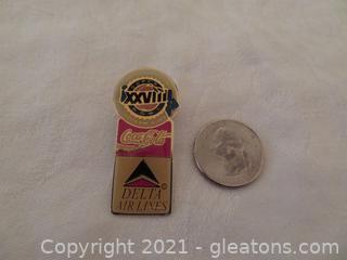 2008 Delta Air Lines/Coca Cola Super Bowl Pin