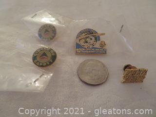 Collectible Lot of Delta Air Lines Commemorative Pins