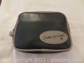 Vintage Delta Air Lines First Class Amenity Kit