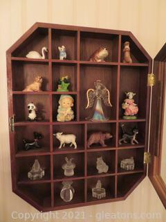 Cute Glass Covered Miniatures Shadowbox With Miniatures