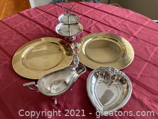 Lot of 12 Silver Service Ware (Silver Plate)