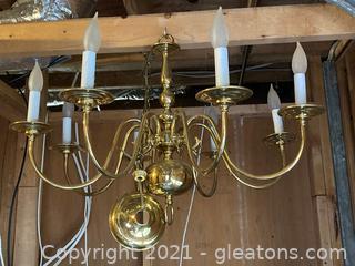 Williamsburg Style Brass Chandelier