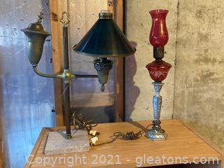 Unique Lamps : Lot of 2