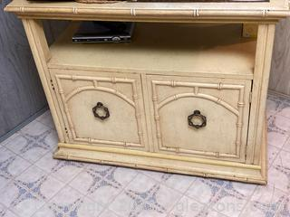 Bamboo Accented, TV Stand Entertainment Center
