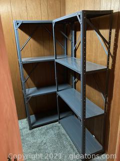 Lot of 2 2 Metal, 5 ft, 4 Rack Shelves