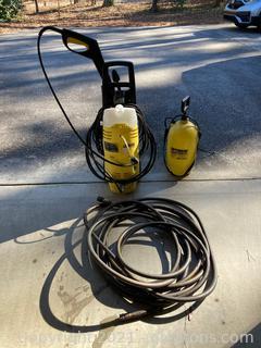 Karcher Lot of 2 Pressure Washer W/Hose, Optimum Sprayer 1750PSI  120V