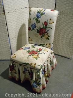Floral Upholstered Parsons Chair