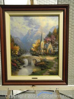 Framed Thomas Kinkade Lithograph