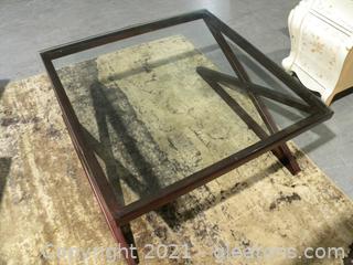 Modern Metal and Glass Coffee Table