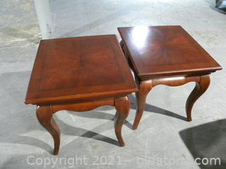 Set of 2 Cherry Side Tables