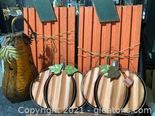 Fall Pumpkin Galore, Lot of 5