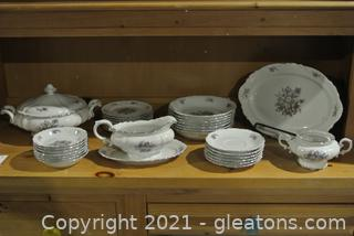 Crown Bavarian China From Germany (Lot of 32)