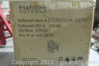 Safavieh Outdoor Patio Chairs (Lot of 2)