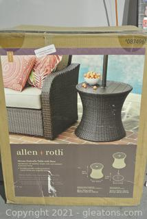 Allen + Roth Woven Umbrella Table with Base