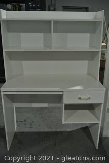 Tall Desk with 3 Shelves and 1 Drawer