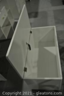 Storage Bench with White Finish