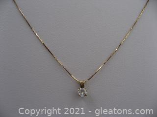 14kt Gold Diamond Necklace