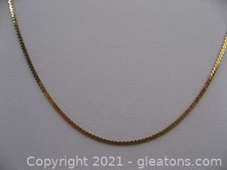 14kt Yellow Gold Serpentine Chain