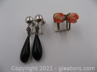 2 Pairs of Non-Pierced Earrings