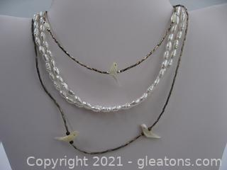 Set of 3 Pearl Necklaces