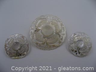 Carved Mother of Pearl Set