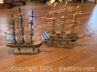 A Pair of Model Ships