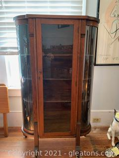 Amish Curved Glass Curio