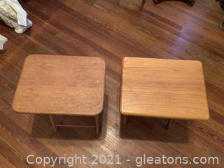2 Vintage Style Tray Tables