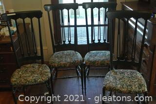 Tall Spindle Back Chairs (Lot of 4)