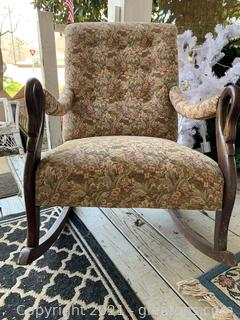 French Tufted Tapestry Rocker