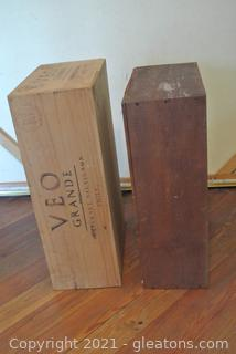 Wooden Wine Crates (Lot of 2)