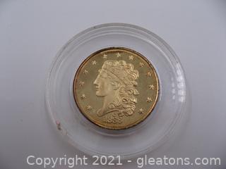1838 $5 Liberty Half Eagle Coin Copy
